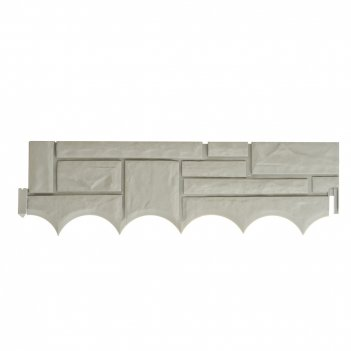Забор декоративный (4секции) 57,5*17,5*1см. (общая длина 230см.) (пластик)