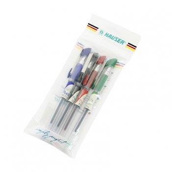 Набор: шариковая ручка (4шт/уп) hauser h6078set