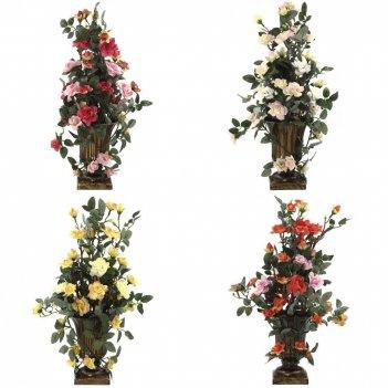 Цветочная композиция роза, l10 w10 h40 см, 4в.