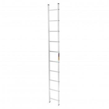 Лестница tundra, алюминиевая, односекционная, приставная, 10 ступеней, 279
