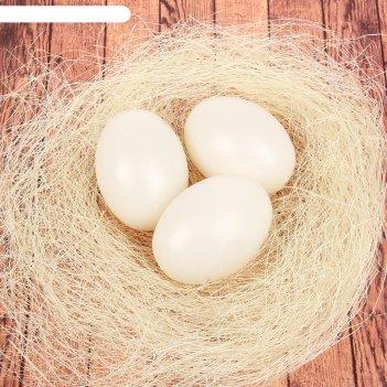 Набор яиц для декорирования, 3 шт в гнезде, цвет белый