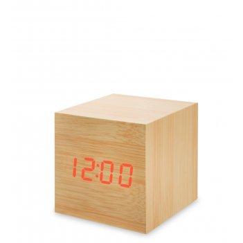 Ял-07-01/ 3 часы электронные мал. (жёлтое дерево с красной подсветкой)