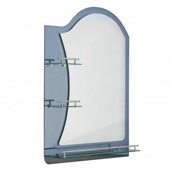 Зеркало в ванную комнату, двухслойное, 80x60 см ассоona a623, 3 полки, цве