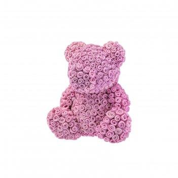 Силиконовая форма для мыла мишка из роз