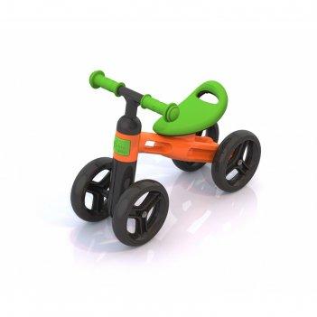 Беговел «нордпласт», цвет оранжево-зелёный