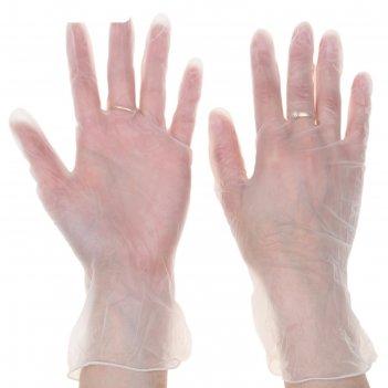 Перчатки хозяйственные тонкие, 10 шт размер l