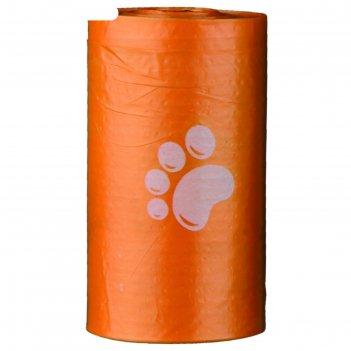 Набор пакетов trixie для уборки за животными, 14 рулонов по 15 шт, цветные