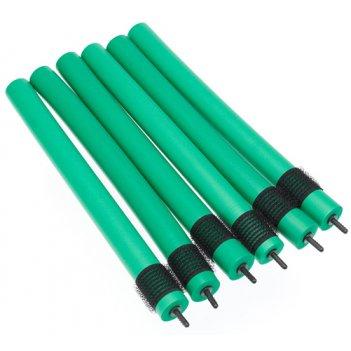 Бигуди-бумеранги dewal beauty d22ммx240мм(6шт) зеленые