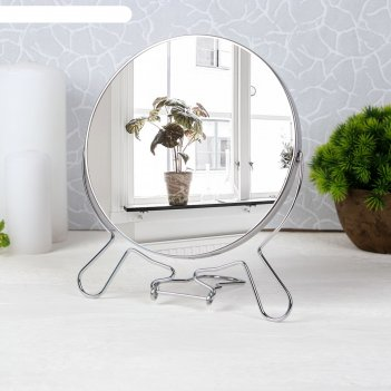 Зеркало мет скл-под круг (2) metal 7r d16/18,5*29см увел серебр кор