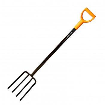 Вилы садово-огородные, 4-рогие, металлический черенок, ручка