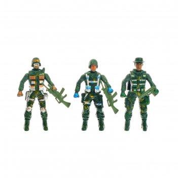 Набор солдатиков спецназ, 3 шт.