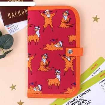 Туристический конверт для документов лама