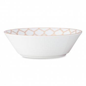 Салатник , диаметр: 22 см, материал: костяной фарфор, цвет: декор, серия ц