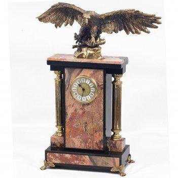Часы орел яшма бронза 330х170х410 мм 9000 гр.