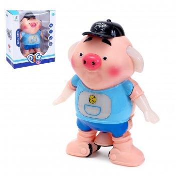 Животное «свинка», работает от батареек, световые и звуковые эффекты, танц