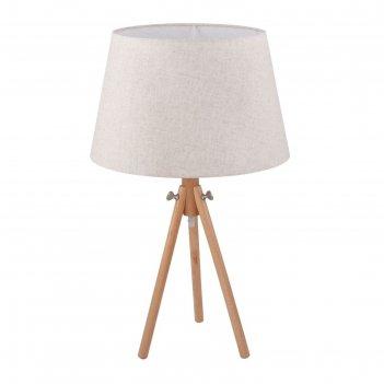 Настольная лампа calvin 1x60вт e27 коричневый 39x39x62см