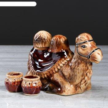 Набор коньячный верблюд 3 предмета, 1л