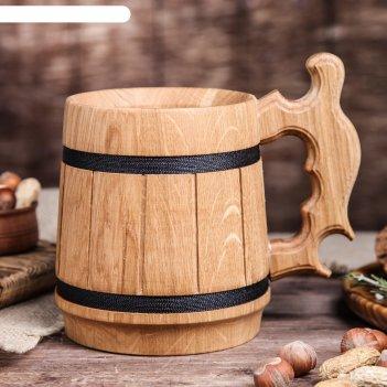 Кружка пивная деревянная вайсбир, 0,5 л