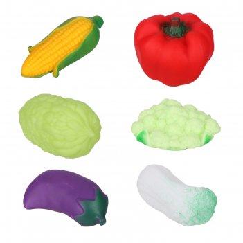 Набор игрушек для ванны «овощи», 6 шт, микс