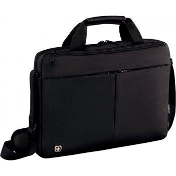 Портфель для ноутбука 14'' wenger, черный, нейлон / пвх, 39 x 8