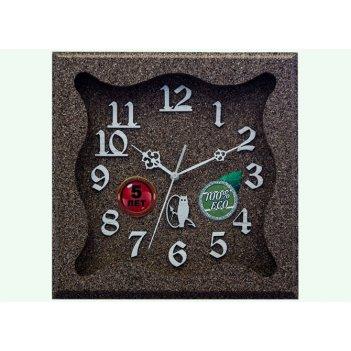 Часы настенные d30-333-камень