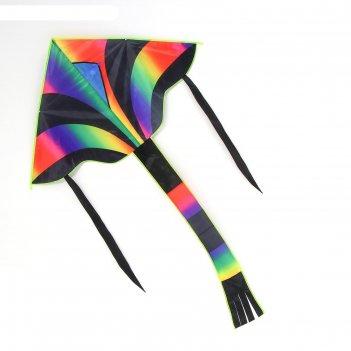 Воздушный змей радуга с леской, цвета микс