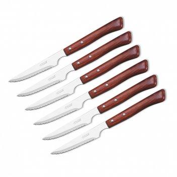 Набор столовых ножей для стейка 110 мм, 6 шт., рукоять прессованное дерево