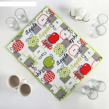 Коврик для сушки посуды 38x51 см яблоки, микрофибра