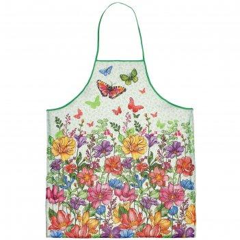 Фартук доляна луговые цветы, размер 60х70 см
