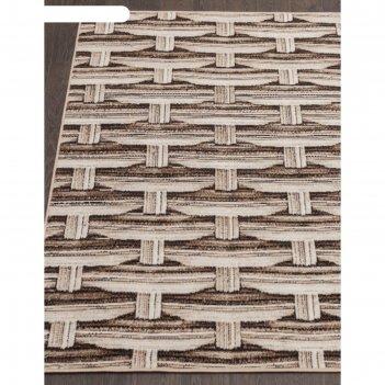 Прямоугольный ковёр sierra d720, 150x300 см, цвет beige-brown