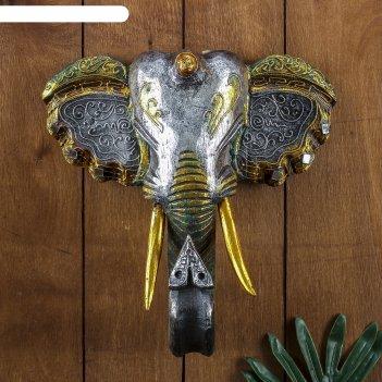Панно настенное голова слона 27х12х30 см