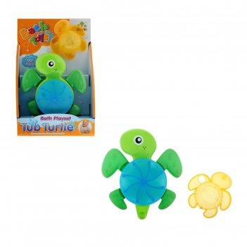 Игрушка для игры в ванной черепашка цвета:микс