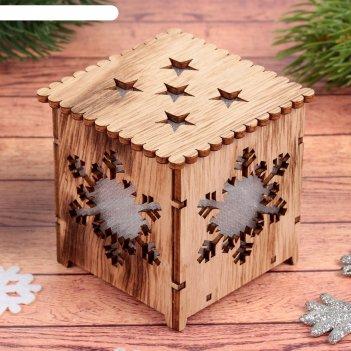 Декор с подсветкой снежинка, батарейки в комплекте