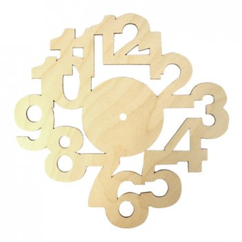 Деревянная заготовка циферблат цифры (l-189)