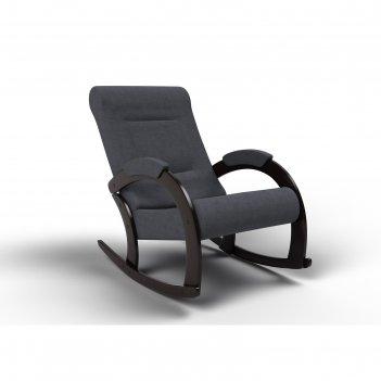 Кресло-качалка «венето», 1112 x 630 x 880 мм, ткань, цвет графит