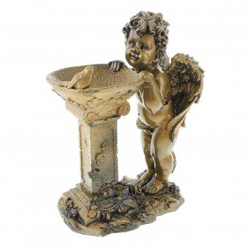 Статуэтка ангел у колонны античное золото