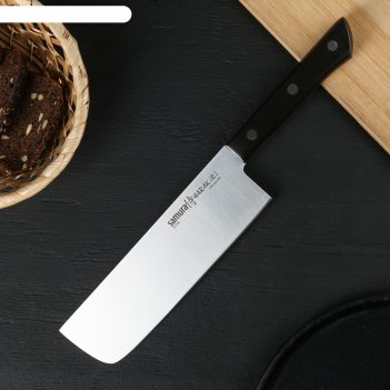 Нож кухонный samura harakiri, лезвие 170 мм, коричневая рукоять