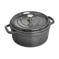 Кокот круглый, объем: 6,7 л, диаметр: 28 см, материал: чугун, цвет: серый