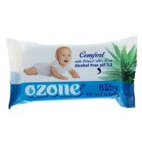 Салфетки влажные ozon детские с экстрактом алоэ 40 шт