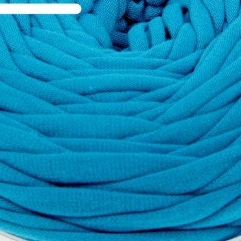 Пряжа трикотажная широкая 50м/160гр, ширина нити 7-9 мм (100 сине-зел.) ми