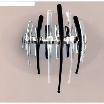 Бра арго 3x20w g4 черный, прозрачный 15x24x30 см