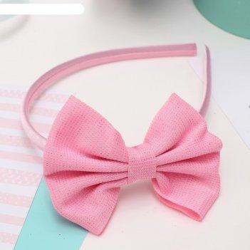 Ободок для волос малышка 1 см блеск, розовый