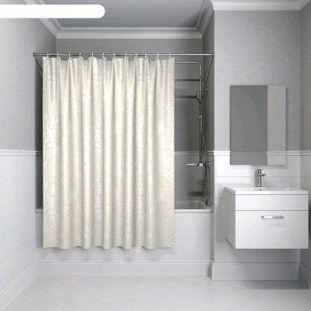 Штора для ванной комнаты iddis b59p118i11, 180x180 см, полиэстер