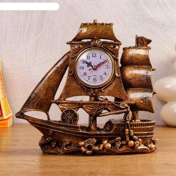 Часы настольные парусник, 1 аа, дискретный ход,  28х12х27.5 см