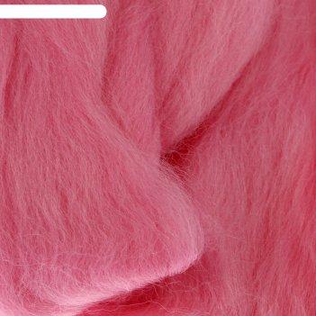 Шерсть для валяния 100% полутонкая шерсть 50 гр (055 св. розовый)