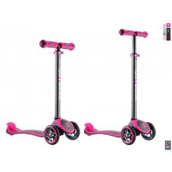 Y-scoo rt globber my free titanium neon pink с блокировкой колес