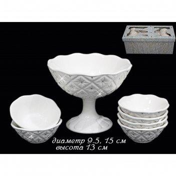 Набор для варенья северное сияние, в подарочной упаковке, керамика
