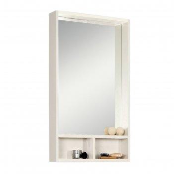 Шкаф-зеркало акватон йорк 50, цвет белый, выбеленное дерево 1a170002yoay