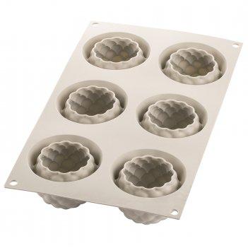 Форма для приготовления пирожных segreti del bosco 17 х 30 см силиконовая