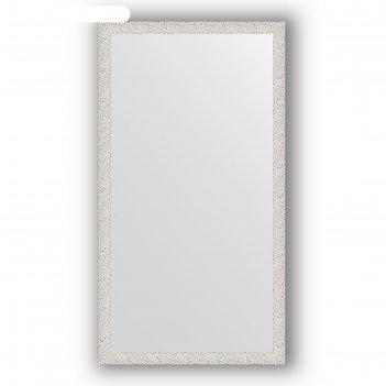Зеркало в багетной раме - чеканка белая 46 мм, 71 х 131 см, evoform